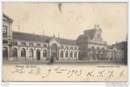 NAMUR ..--  La GARE . 1903 Vers BOUILLON ( Melle Marie BRACONNIER ) .  Voir Verso . - Namur