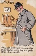 Illustrateur  Griff : La Vie Chère - On Paie Les Chaussures... - CPA Neuve - Griff