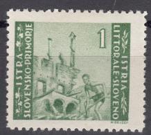 Istria Litorale Yugoslavia Occupation, 1946 Sassone#53 Mint Hinged
