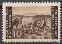 Istria Litorale Yugoslavia Occupation, 1945 Sassone#48 Mint Hinged