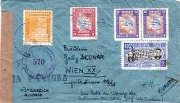 BOLIVIA 1947 - 5 Fach Frankierung Auf LP-ZENSUR-Brief Von Bolivien > Wien - Bolivien