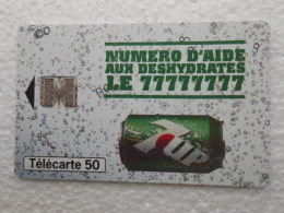 TELECARTE 50 - Numéro D'aide Aux DESHYDRATES Le 77777777  - Boisson Soda 7up Canette - Alimentación