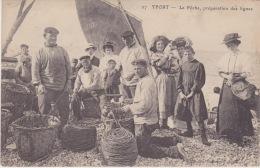 YPORT ( 76 - Seine Maritime ) - La Pêche - Préparation Des Lignes ( Animée , Personnes , Vieux Métiers ...) - Yport
