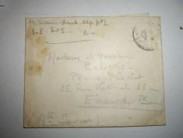 Lettre F M Cover Guerre 1917 Armée D Orient  Sect Post 505-pharmacie Cachat EVIAN - Marcophilie (Lettres)