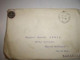 Lettre F M  ! Cover Guerre 1914  De EVIAN LES BAINS-avec Logot-pharmacie Cachat .E  DENIS - Marcophilie (Lettres)