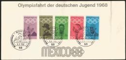 G)1968 GERMANY, 19TH OLYMPIC GAMES, MEXICO CITY, PIERRE DE COUBETIN-KARL FRIEDRICH-RUDOLF HARBIG-HELENE MAYER-CARL DIEM, - Sommer 1968: Mexico