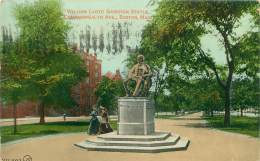 BOSTON - Commonwealth Ave - William Lloyd Garrison Statue - Boston