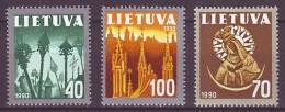 LITHUANIA 1991. NATIONAL SYMBOLS. Mi-Nr. 474-76. MNH (**) - Lithuania