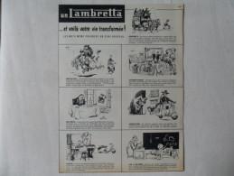 ANCIENNE PUBLICITE POUR LAMBRETTA / ANNEES 60 - Motorfietsen
