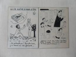 2 ANCIENNES PUB CIGARETTE GITANES  ANNEES 60 / DESSIN JEAN EFFEL ET B. ALDEBERT /FORMAT CP - Tabac (objets Liés)
