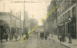 92. COURBEVOIE . Avenue Marceau . CPA Animée . - Courbevoie