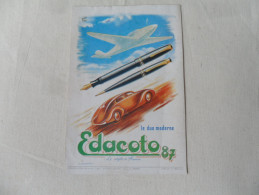 ANCIENNE PUBLICITE   STYLO  EDACOTO 87   /    ANNEES 60 - Stylos