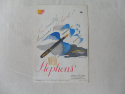 ANCIENNE PUBLICITE   STYLO  STEPHENS'    /    ANNEES 60 - Stylos