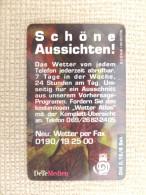 Germany, Deutschland, 2 Telefonkarten, 2 Phonecards, S Serie, Deutscher Wetter Dienst- 4 Jahreszeiten, Alle Wetter, Used - Advertising