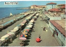 Toscana-livorno-cecina Mare La Spiaggia Veduta Animatissima Anni 50/60 - Italia