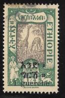 Ethiopia, Scott # 137 Used Giraffes, Surcharged, 1921 - Ethiopia