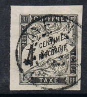 COLONIES GENERALES TAXE N°4  Oblitération De Cayenne (Guyane) - Postage Due