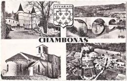 07. Pf. CHAMBONAS. 4 Vues + Blason. 72906 - France