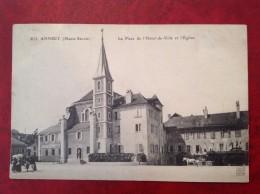 74 Haute Savoie Cpa ANNECY La Place De L´Hotel De Ville Et L´Eglise (bis) - Annecy
