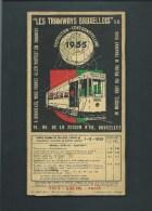BELGIQUE BRUXELLES EXPO 1935  PLAN MOBILE DU RESEAU DES TRAMWAY RR - Europe
