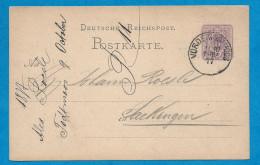 POSTKARTE à  5 Pfennig    Oblitération: VORDERMODEMOS   11-10-1877 - Briefe U. Dokumente