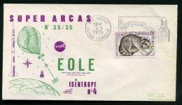 F D C  ESPACE :  BEL  F D C  AVEC  CACHET  DE  KOUROU  DU  4  SEPTEMBRE  1974  , A  VOIR . - FDC & Commemoratives