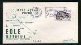 F D C  ESPACE :  BEL  F D C  AVEC  CACHET  DE  KOUROU  DU  27  FEVRIER  1974  , A  VOIR . - FDC & Commemoratives