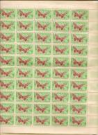 PAPILLONS DE MADAGASCAR  FEUILLE DE  50 TIMBRES **   0.40 - Schmetterlinge