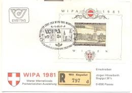Austria 1981, Registered FDC S/s At 9010 Klagenfurt. Cv 5 Euro - FDC