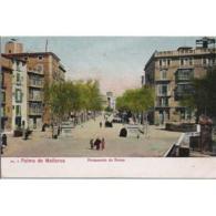 BLARSTP3110-LFTD3993.Tarjeta Postal De BALEARES.Edificios,arboles,Personas Paseando Por Las Calles De PALMA DE MALLORCA - Mallorca