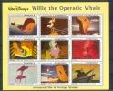 NctD012b WALT DISNEY OPERATIC WHALE WALVIS DOMINICA 1993 PF/MNH - Disney