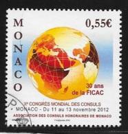 MONACO - OBLITERE -  XE CONGRES MONDIAL ASSOC. CONSULSHONORAIRES MONACO   - 2012 - Monaco