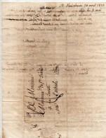 Lettre Du 30 Avril 1820 De Annonay - Marcofilia (sobres)