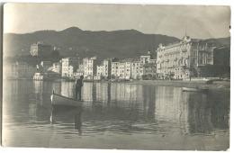 Vera Foto 1907 Oneglia Con Barca Stampata Porto Maurizio 1907 Andata In Danimarca - Imperia