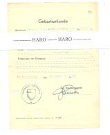 KALTERHERBERG - Certificat De Naissance 1948 (b184) - Cachets Généralité
