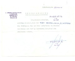 Attestation -Chasseurs Ardennais - Vielsalm 1969 (b194) - Documenti