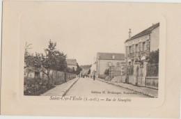 CPA 78 SAINT CYR L´ECOLE Route De Neauphle Le Château Carte Embossée - St. Cyr L'Ecole