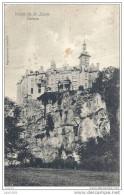 WALZIN ..-- DINANT ..-- Le Château . 1908 Vers LIEGE ( Melle Camille DELCOMMUNE ) . Voir Verso . - Dinant