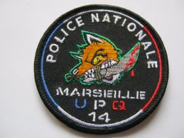 INSIGNE TISSUS PATCH POLICE NATIONALE DU 13 MARSEILLE UPQ 14 TRES BON ETAT - Police & Gendarmerie