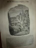 1834 LM :Hôtel Des Ambassadeurs D'Angleterre à DIJON;Poisson ANARHIQUE; Eruption ETNA à CATANE ; Combat TIGRE/ HOMME - Vieux Papiers