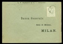 BRIEFOMSLAG Uit 1892 Van AMSTERDAM:ANTW: Naar MILAN ITALY  (10.439f) - Periode 1891-1948 (Wilhelmina)