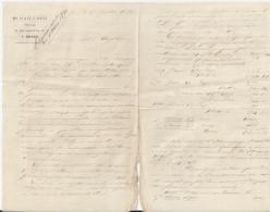 BREST  M RAILLARD NOTAIRE LETTRE DOUBLE ET ENVELOPPE AVEC ENTETE ANNEE 1890 DECHIRRURE EN BAS - France