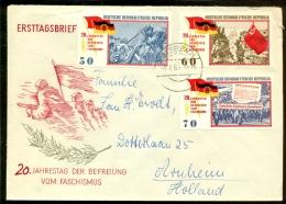 DDR 1965 Ersttagsbrief  Befreiung Vom Faschismus Mi 1108, 1109 Und 1110 - FDC: Buste