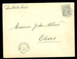BRIEFOMSLAG Uit 1896 Van GEERTUIDENBERG Naar CLEVES DEUTSCHLAND  (10.439k) - Periode 1891-1948 (Wilhelmina)