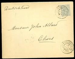 BRIEFOMSLAG Uit 1894 NVPH Nr 38 Van GEERTRUIDENBERG Naar CLEVES DEUTSCHLAND  (10.439m) - Periode 1891-1948 (Wilhelmina)
