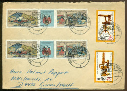 DDR 1980 Umschlag Mit  Mi Dreierstreifen 2532-2533 (Zwei Mahl), 2536 Und 2537 - Storia Postale