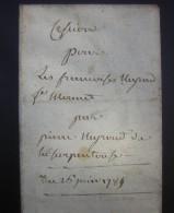 1785 Cession à Françoise Heyrard (?) L'épouse De Jean Marie Mermet (copie D'époque Napoléonienne) - Manuskripte