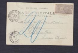 Timbre Fiscal 10c Quittances Recus Et Decharges Sur CPA Eglise D' Ars Cad Landonvillers Paray Le Monial - Revenue Stamps