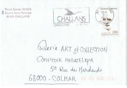 OIS-L28 - FRANCE Flamme Sur Lettre De Challans Illust. Oie