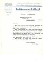 LETTRE - 75 - PARIS 3e - ORFEVRERIE BOIS PRECIEUX POTERIE D'ETAIN L. VIBERT - 1935 - 577 - France